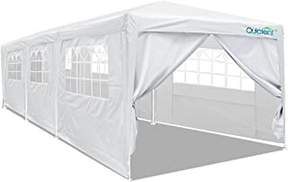 Quictent 10` x 30` Party Tent Gazebo Wedding Canopy BBQ Shelter Pavilion with Removable Sidewalls & Elegant Church