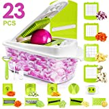 Sedhoom 23 in 1 Vegetable Chopper Food Chopper Onion Chopper Mandoline Slicer w/ Large Container,...
