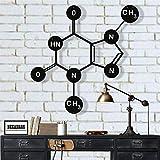 Metal Wall Art, Theobromine (Chocolate) Molecule, Metal Wall Decor, Symbol Nerd Art, Science Art, Biology Chemistry Art Office Decoration (18'W x 18'H / 45x45 cm)