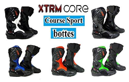 Bottes de Moto XTRM Core Adulte Bottes Hommes & Femmes Scooter Quad Rider sur Route Course Tournee Sport Armure de...