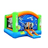 AABABY Playhouse Hüpfburg Kinder aufblasbare Hüpfburg Raum Trampolin Familie Hinterhof im Freien Bouncer ohne Gebläse (Farbe : O1, Größe : 260x470x385cm)