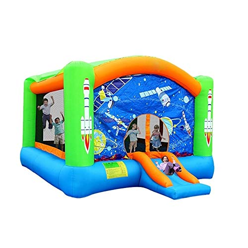 Bouncy Castle Kids Inflatable Bouncy Castle Space Trampoline Family Backyard Outdoor Bouncer Without Blower for kids 260x470x385cm Playhouse Bouncer (Color : O1, Size : 260x470x385cm)