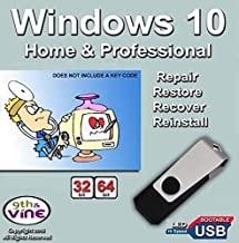 9th & Vine USB Flash Drive Compatible With Windows 10 Home & Professional 32/64 bit. Install To Factory Fresh, Recover, Re...