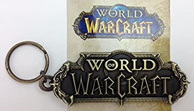 WOW World of Warcraft die-cast Metal Logo Keychain