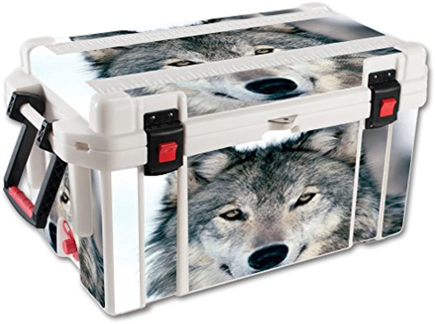 MightySkins Skin Compatible with Pelican 65 qt Cooler wrap Cover Sticker Skins Wolf