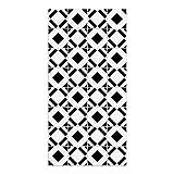DON LETRA Alfombra Vinílica con Diseño de Baldosas - 80 x 40 cm - Material Impermeable y Lavable - Grosor de 2 mm, Color Blanco y Negro, ALV-013
