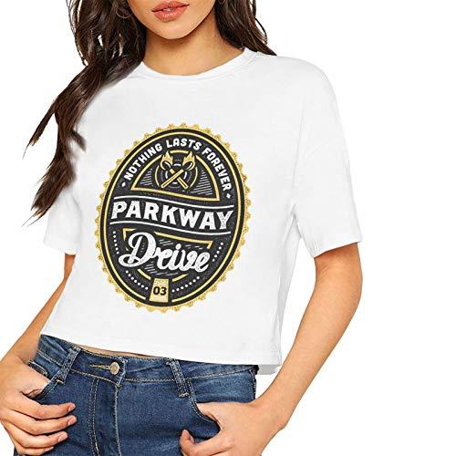 John J Littlejohn Kurzarm-T-Shirt für Damen, Parkway-Drive, bedruckt, bequemes T-Shirt