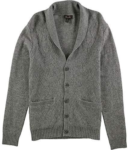 Tasso Elba Men's Pure Cashmere Cardigan in Grey Heather (3XL)