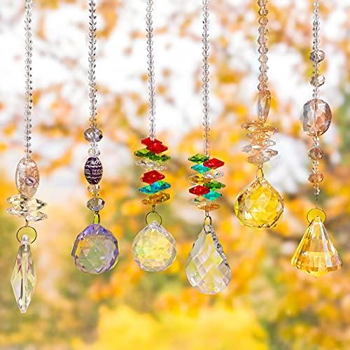 Cristal colgante para ventana,Cristal arcoíris,Cristal prisma,Colgantes de Cristal,Prisma de cristal,Arcoiris de cristal,Colgante...
