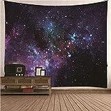 BATOHOME - Arazzo da parete per bambini, motivo: bella notte di galassia, paesaggio, decorazione per camera, soggiorno, tappezzeria, 350 x 256 cm