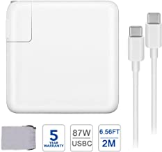 87W USB C Charger Power Adapter for MacBook Pro 15 Inch 13 Inch MacBook 12Inch MacBook Air iPad Pro 2018 2019 Include Charge Cable