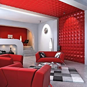 Contempo Living 3D-Diamond Diamond 3D Wall Panel, 27-Square Feet