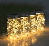 4 Stück Solarlampen für Außen - 30 LED Solar Laterne Hängend Solarlampions Außen 600mAh Wetterfest Gartendeko Solarleuchten für Weihnachten, Außen Laterne, Hochzeit Patio Balkon Garten Baum