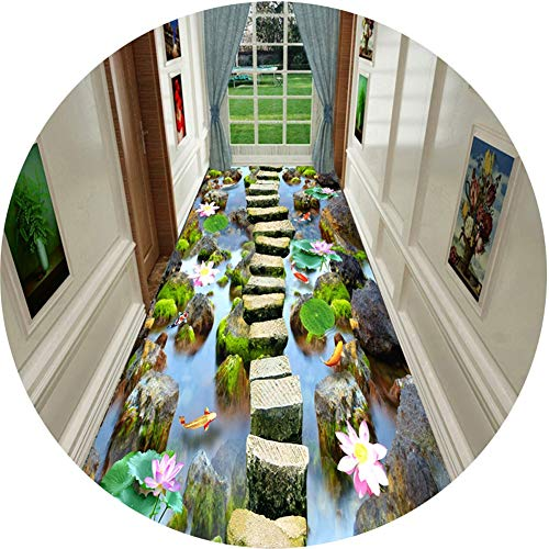 Barture tapijt loper gang loper tapijten korte stapel 5 mm slijtvast gemakkelijk te reinigen 3D trappen hal tapijt polyester meerdere maten Cropable aanpasbare grootte