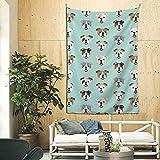 AEMAPE Tapiz Bulldog inglés Divertido Cabeza de Perro tapices tapices Dormitorio Sala de Estar Dormitorio Manta Arte de Pared para decoración del hogar