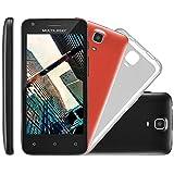 """Smartphone MS 45 S Câmera 3 MP + 5 MP 3G Quad Core 1GB Android 5.1, Multilaser, NB234, 8GB, 4.5"""", Preto"""