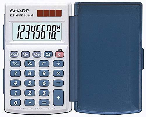 Sharp EL-243S Taschenrechner (Solar- und Batteriebetrieb) weiß