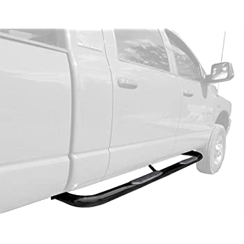 3500 Mega Cab Pickup Truck 3 Black Side Bars Nerf Bars Step Rails Running Boards Off Road Exterior Accessories 2 Pieces Running Boards TAC Side Steps Fit 2006-2009 Dodge Ram 1500//2500