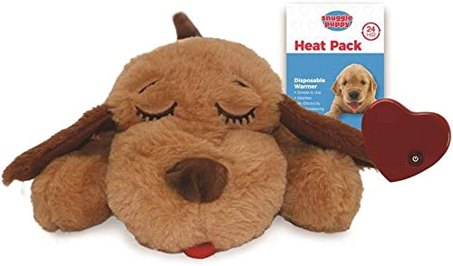 SmartPetLove Snuggle Puppy Heartbeat Stuffed Toy - Pet Anxiety Relief and Calming Aid