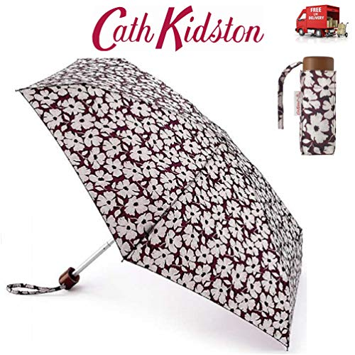 Sello floral pequeño paraguas plegable plano Cath Kidston bolso tamaño con cubierta a juego L521 7F3564