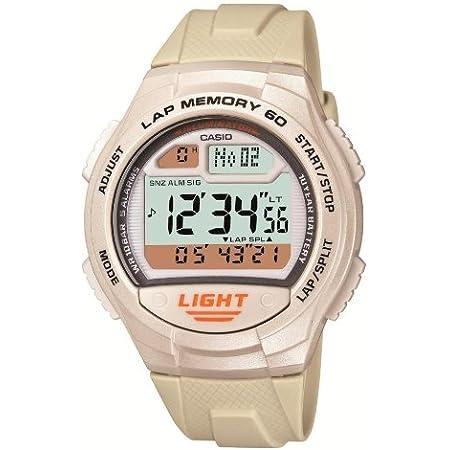[カシオ] 腕時計 スポーツギア LAP MEMORY 60 W-734J-7AJF ホワイト