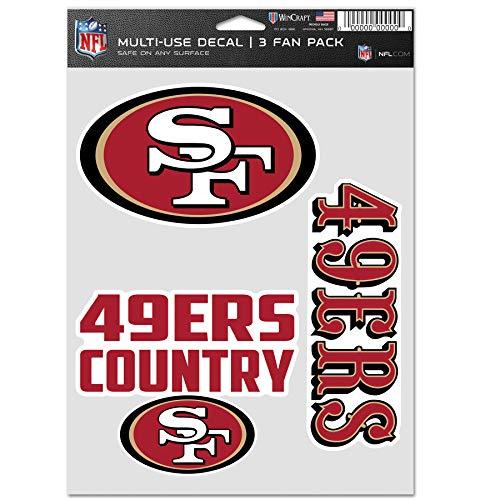 Wincraft NFL Aufkleber Multi 3er Set 20x15cm - San Francisco 49ers