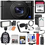 Sony Cyber-Shot DSC-RX100 VII 4K Wi-Fi Digital Camera with 128GB Card + Battery & Charger + Backpack + Hand Grip + Video Light + Microphone Kit