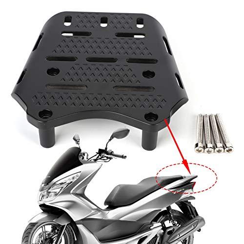 Qiilu Motorcycle Rear Luggage Rack CNC Aluminum Alloy Utility Rack Holder Shelf for Honda PCX 125 150 2014-2019
