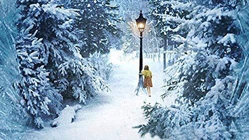 DSFJK Rompecabezas Lucy In Narnia Adultos Escena de Nieve de Madera 1000 Piezas Rompecabezas niños Inteligencia Cerebro desafío Aprendizaje Regalo