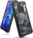 Ringke Fusion-X Compatible with Redmi Note 9 Case, Camouflage Design Back Heavy Duty Shockproof TPU Rugged Bumper Phone Cover - Camo Black