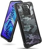 Ringke Fusion-X Diseñado para Funda Xiaomi Redmi Note 9 (2020) Militar Carcasa Redmi Note 9, Parachoque TPU Resistente Impactos Funda Negra para Redmi Note 9 (6.53 Pulgadas) – Camo Black (Camuflaje)
