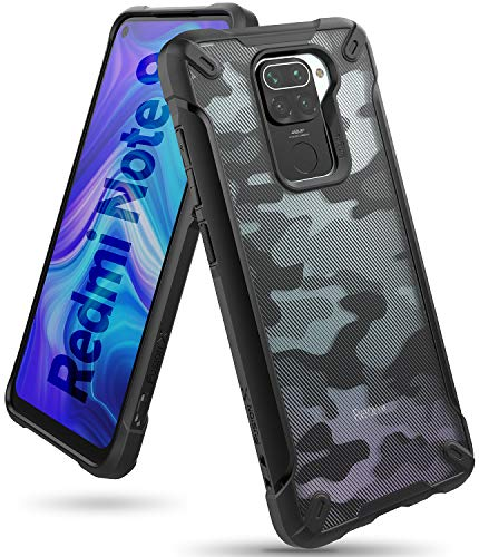 Ringke Fusion-X Diseñado para Funda Xiaomi Redmi Note 9 (2020) Militar Carcasa Redmi Note 9, Parachoque TPU Resistente Impactos Funda Negra para Redmi Note 9 (6.53 Pulgadas) – Camo Black (Camu