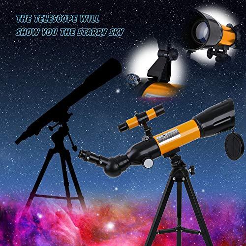 BBYU Teleskop Bresser Tragbar mit Verstellbarem Stativ Teleskop Astronomisches Teleskop Set Teleskop Kinder