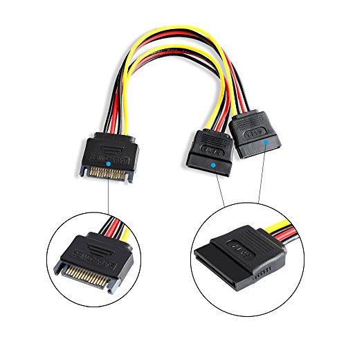 duttek SATA a Doble Divisor de Cable de alimentación SATA Disco ...