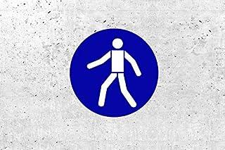 SchabloneFußgängerweg benutzen zweiteilig, Gebotszeichen M024