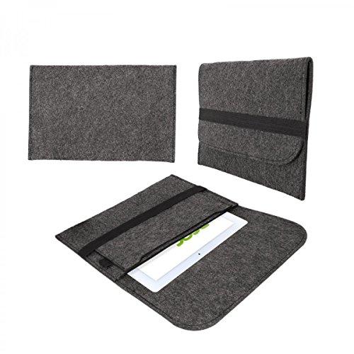 eFabrik hoes voor Acer Iconia One 10 B3-A20 beschermtas tas mouw case soft cover beschermhoes vilt donkergrijs