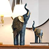 Escultura Estatua Conjunto de Elefante de Resina para Madre e Hijo, estatuilla artística, Adornos coleccionables, estatuillas de Manualidades de Escritorio para Regalo de decoración del hogar