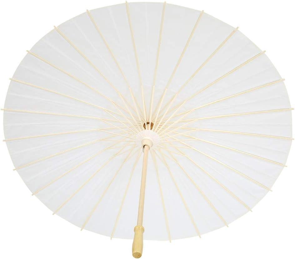 Shanrya Paper Umbrella Now free shipping Max 82% OFF Decor Rib Solid Para Wood