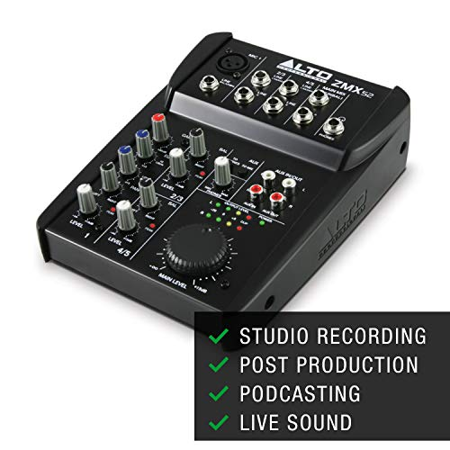 Alto Professional ZMX52 - Studio Quality 5 Channel Compact Audio Mixing...