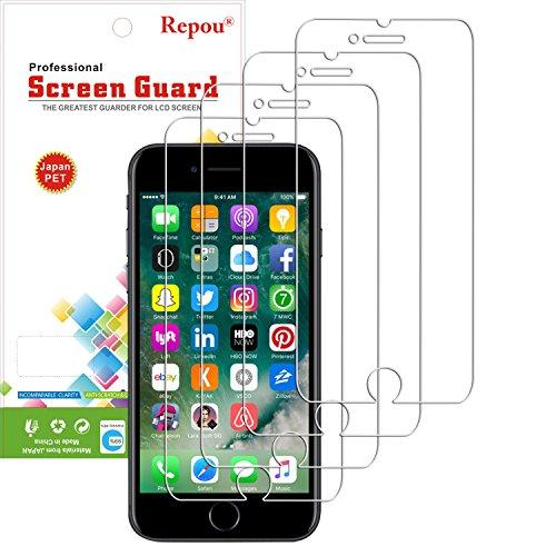 Repou Iphone 7 Pellicola Proteggi Schermo AntiGraffio Screen Protector Trasparente [CONFEZIONE DA 4]