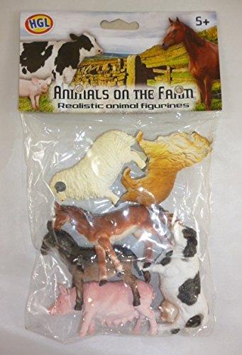 Toyland Pack de 6 Animaux de la Ferme - Chaque mesures des Animaux Environ 8.5cm - Jouets Ferme [Jouet]