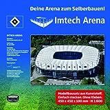 """Hamburger Sportverein HSV Stadion Arena """"Volksparkstadion"""" Stadionbausatz zum Selberbauen Fanartikel/Geschenk ? -"""