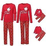 Riou Weihnachten Baby Kleidung Set Kinder Pullover Pyjama Outfits Set Familie Kinder Baby Boy Girl T Shirt Tops Hosen Familie Pyjamas Nachtwäsche Weihnachten Outfits (S, Mom)
