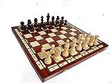 JUEGO DE AJEDREZ DE MADERA N ° 8 DE TORNEO PROFESIONAL DE ALTA CLASE Master of Chess. Gran tablero de ajedrez y piezas STAUNTON ponderadas (No 8 Classic)
