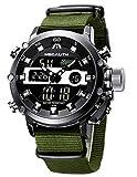 Montre Homme Montre Bracelet Etanche Digitale Analogique Militaire Noir Montre pour Homme de Sport Mode Quartz Alarme Chronomètre...