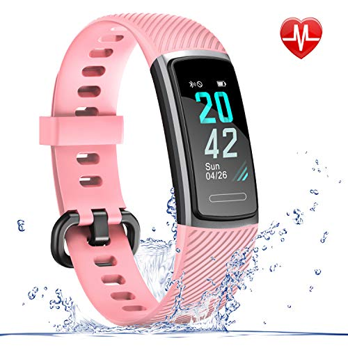 LETSCOM Fitness Tracker HR, IP68 Water Resistant Color...