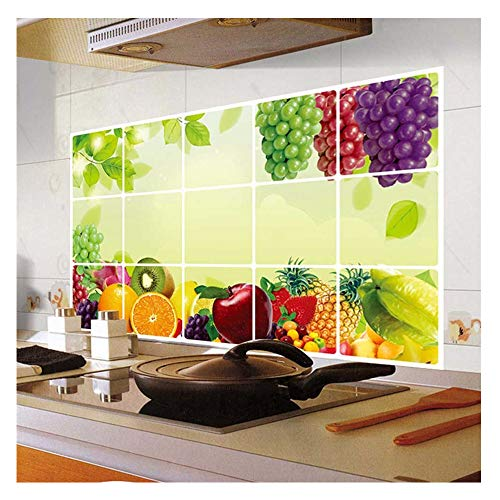 Removable Wall Sticker,Kitchen Oilproof Removable Wall Stickers Art Decor Home Decal, Best for Kitchen Decoration or Oilproof Accessories (Multicolor)