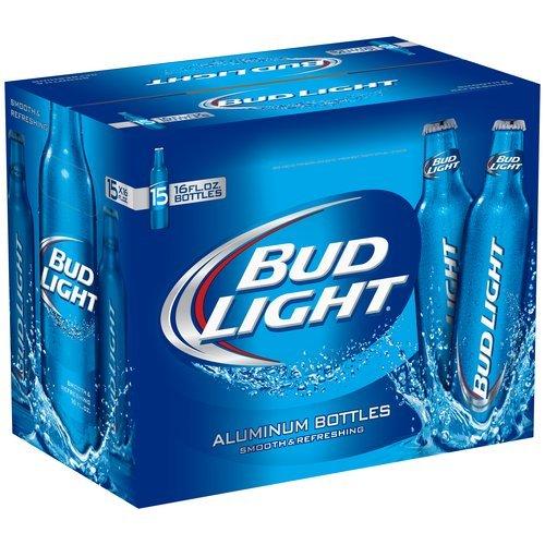 Anheuser Busch Bud Light - Aluminium Bottles (15 x 0.473 l)