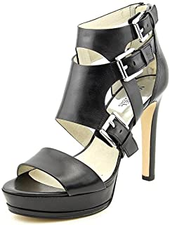 f4b6d29a7b54 Michael Kors Lucinda Open Toe Womens Leather Dress Sandals Shoes Black