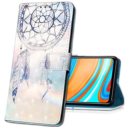 MRSTER Huawei P Smart 2019 Custodia, 3D Moda Custodia Flip Premium Protettiva Portafoglio PU Pelle Phone Case Cover per Huawei P Smart 2019 / Honor 10 Lite. YB Blue Dreamcatcher